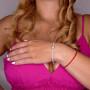 Теннисный браслет для женщины, белое золото 14 карат, длина 18 см