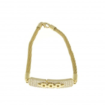 Gold bracelet, wide, 14K yellow gold