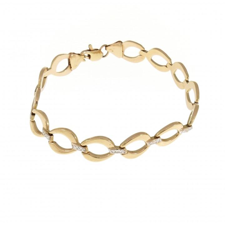 Women's gold bracelet, 14K red gold, length 19 cm