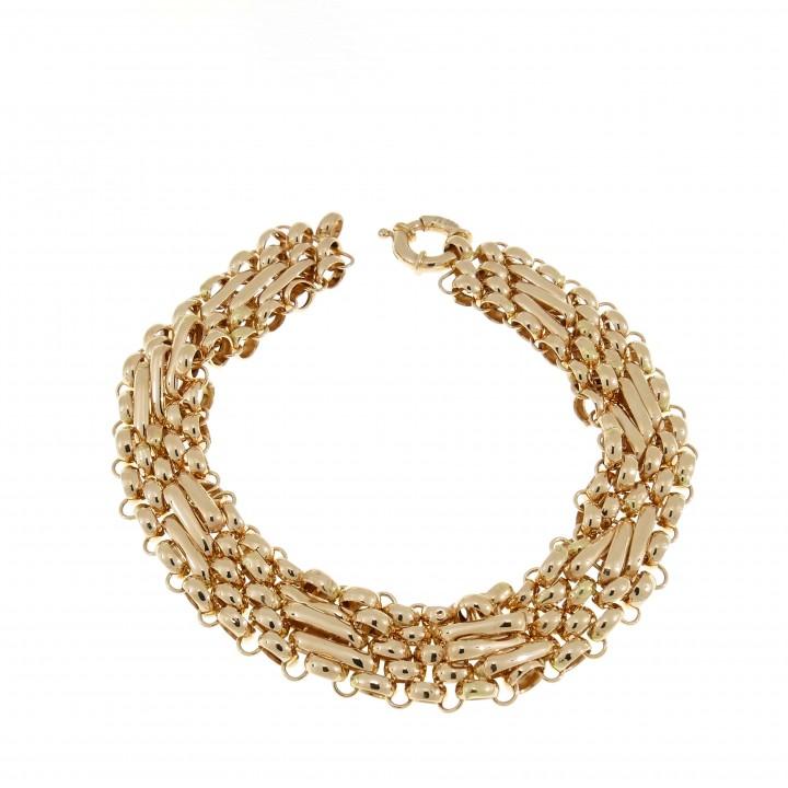 Золотой браслет широкий
