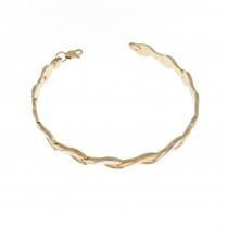 Women's gold bracelet, 14K red gold, length 18 cm