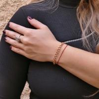 Браслет для женщины, Бисмарк, красное золото 14 карат, длина 19.5 см
