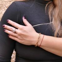Золотой браслет женский, жёлтое золото 14 карат, длина 22 см