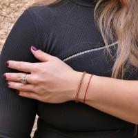 Золотой браслет женский, красное золото 14 карат, длина 19.5 см