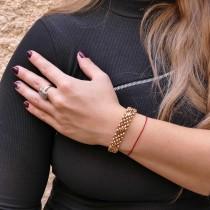 """צמיד זהב לנשים, זהב אדום 14 קראט, אורך 21 ס""""מ"""