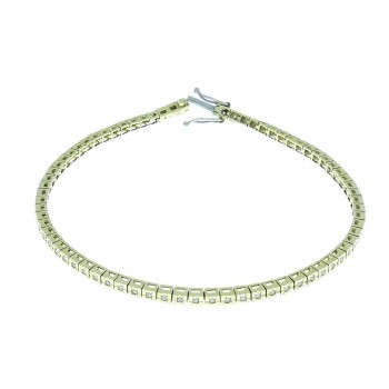 Bracelet for woman, 14k yellow gold with diamonds