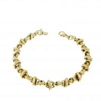 Браслет для женщины, желтое золото 14 карат, длина 20.5 см