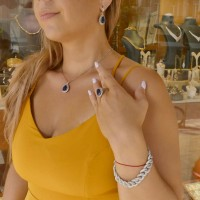 Золотой браслет, белое/желтое золото и цирконий