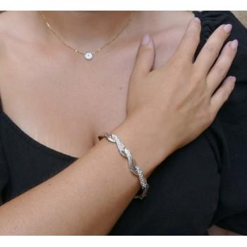 Браслет для женщины, белое золото 14 карат
