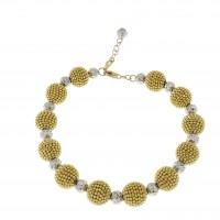 Браслет для женщины, желтое и белое золото, длина 20.5 см