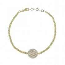 Bracelet for woman, 14K yellow gold, zircon