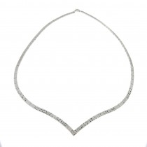 Necklace for a woman, 14 k white gold, diameter 14.5 cm