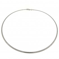Necklace for a woman, 14 k white gold, diameter 14 cm