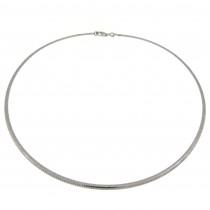 Колье для женщины, белое золото 14 к, диаметр 14 см