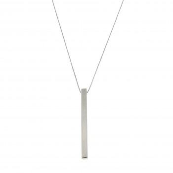 Цепочка для женщины с кулоном, белое золото 14к, длина 58 см