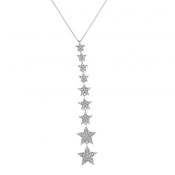 Женская цепочка с звёздами