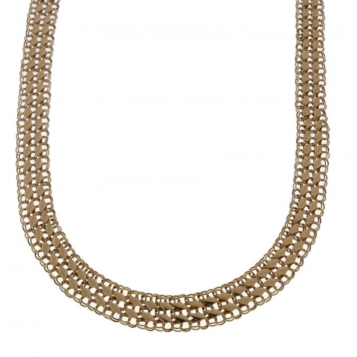 Женская цепочка, красное золото, длина 44 см