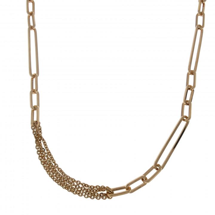Женская цепочка, красное золото, длина 60 см