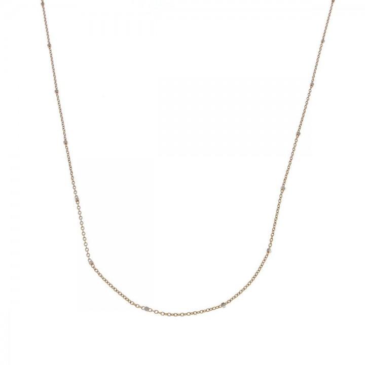 Цепочка для женщины, красное золото 14 карат, длина 44 см