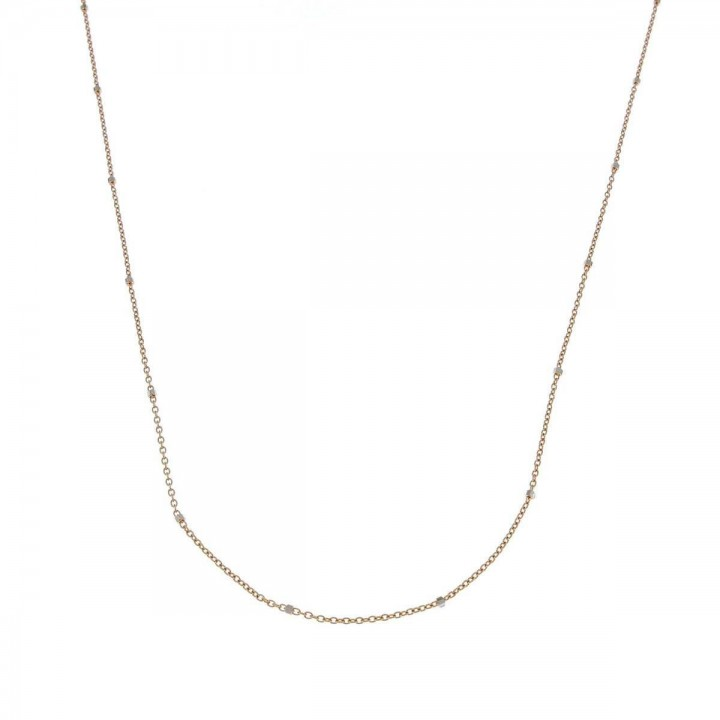 Chain for women, 14K red gold, length 44 cm