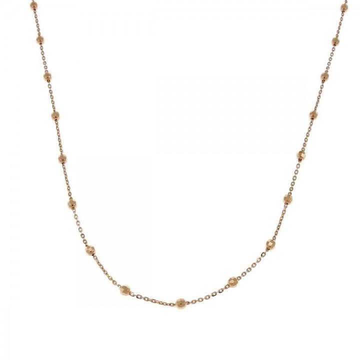 Цепочка для женщины, красное золото 14 карат, длина 45 см
