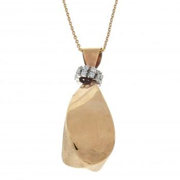 Цепочка для женщины с кулоном, красное золото 14к, длина 50 см