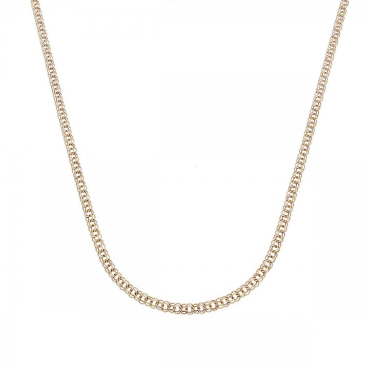 Chain for woman, red gold, length 44 cm
