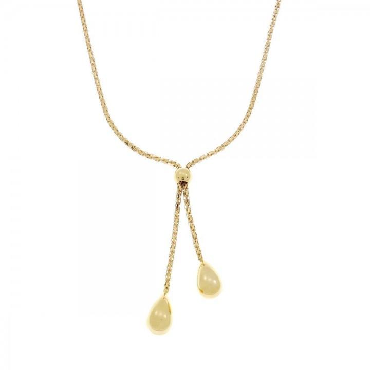 Цепочка для женщины, красное золото, длина 55 см
