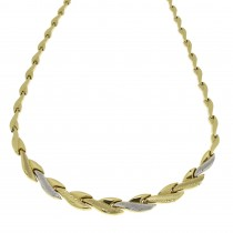 Necklace for a woman, 14k yellow and white gold, length 40 cm