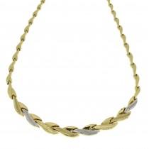 Колье для женщины, желтое и белое золото 14к, длина 40 см