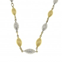 Chain for a woman, 14k yellow and white gold, length 42 cm