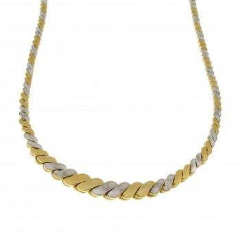Chain for a woman, 14k yellow and white gold, length 46 cm