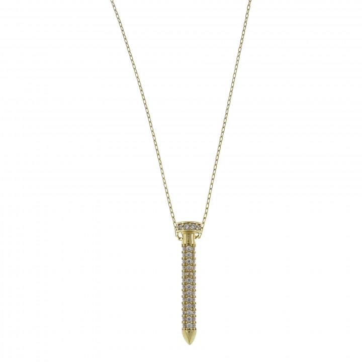 Женская цепочка с кулоном - гвоздик
