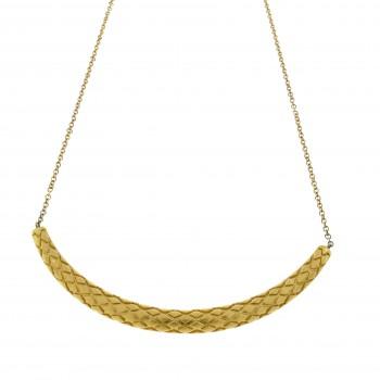 Колье для женщины, жёлтое золото 14 к, длина 42 см