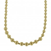 Chain for a woman with balls, 14K yellow gold