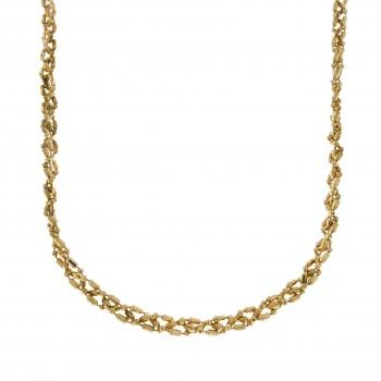 Цепочка для женщины, желтое золото, длина 42 см