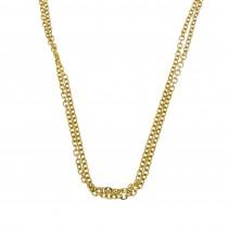 Цепочка для женщины, желтое золото 14к, длина 42 см
