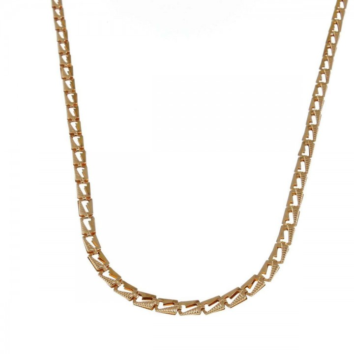 Chain for women, 14k yellow gold, length 44 cm