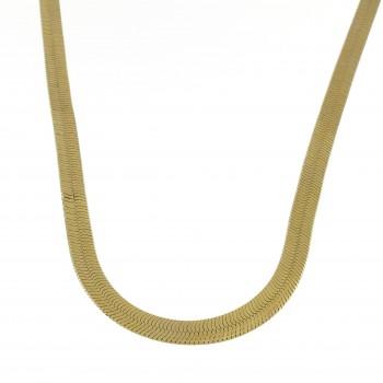 Цепочка для женщины, желтое золото 14 карат, длина 45/50 см