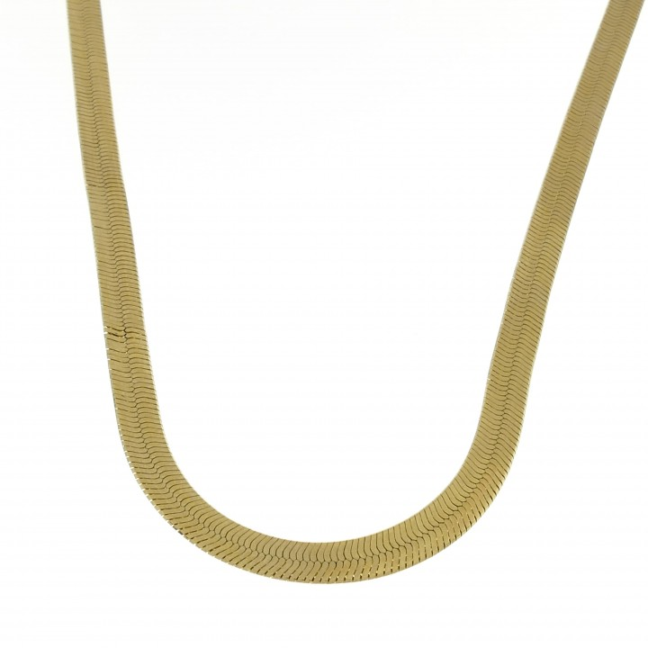 Chain for women, 14k yellow gold, length 45/50 cm