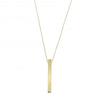 Колье для женщины, жёлтое золото 14 к, длина 48 см