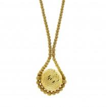 """שרשרת לאישה, זהב צהוב 14 קראט, אורך 48 ס""""מ"""
