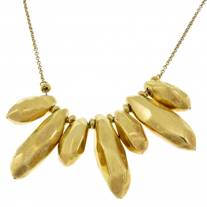 Chain for a woman with a pendant, 14K yellow gold, length 50 cm