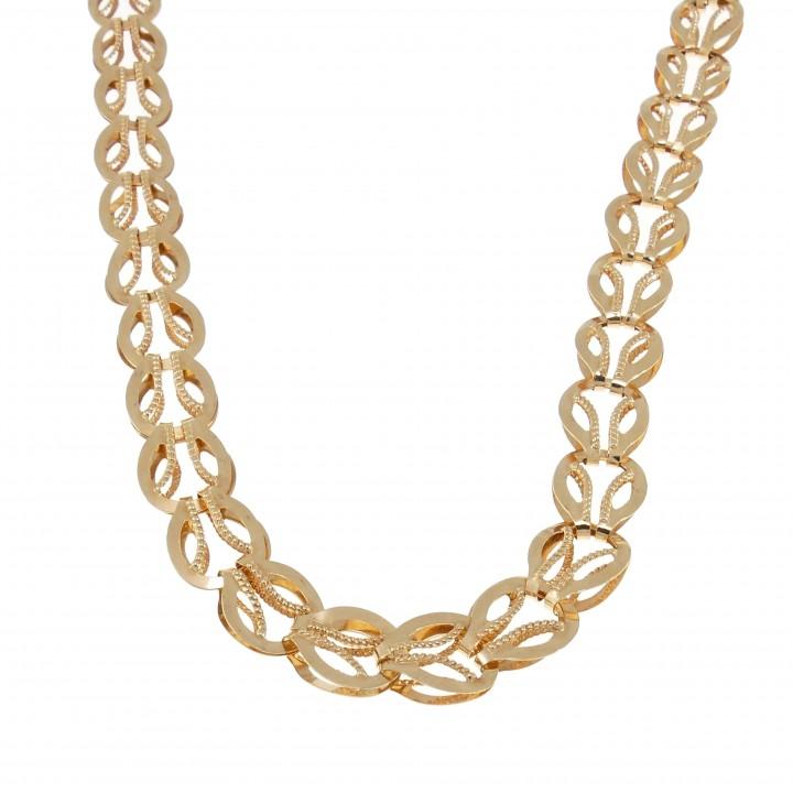 Цепочка для женщины, желтое золото, длина 55 см
