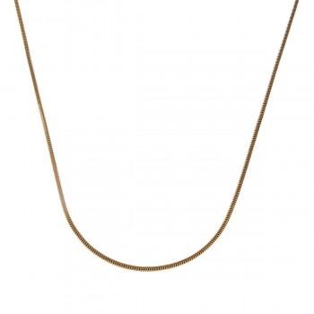 Цепочка для женщины, желтое золото 14 карат, длина 60 см