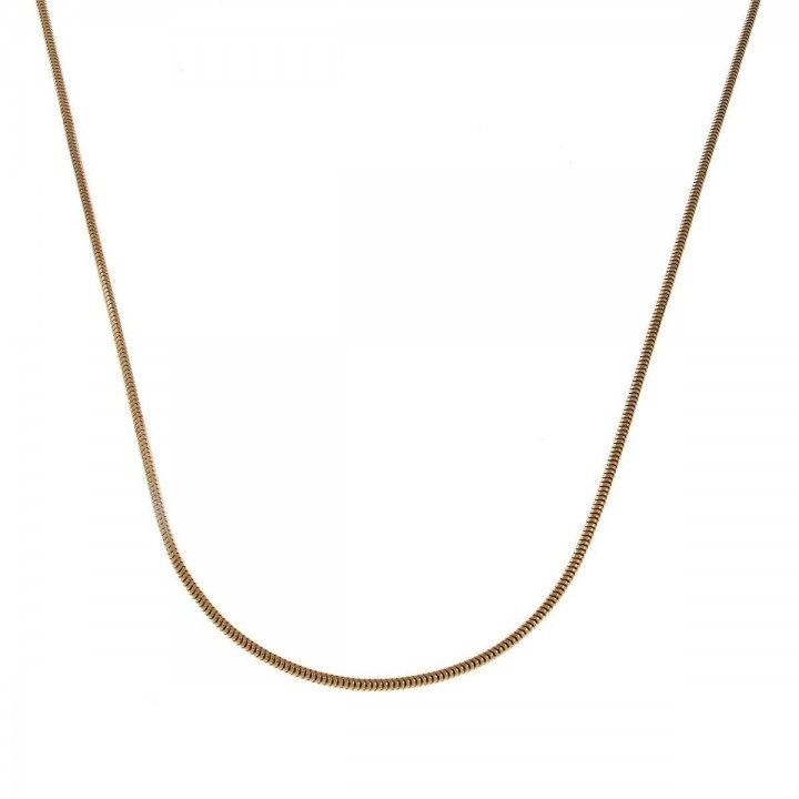 Chain for women, 14k yellow gold, length 60 cm