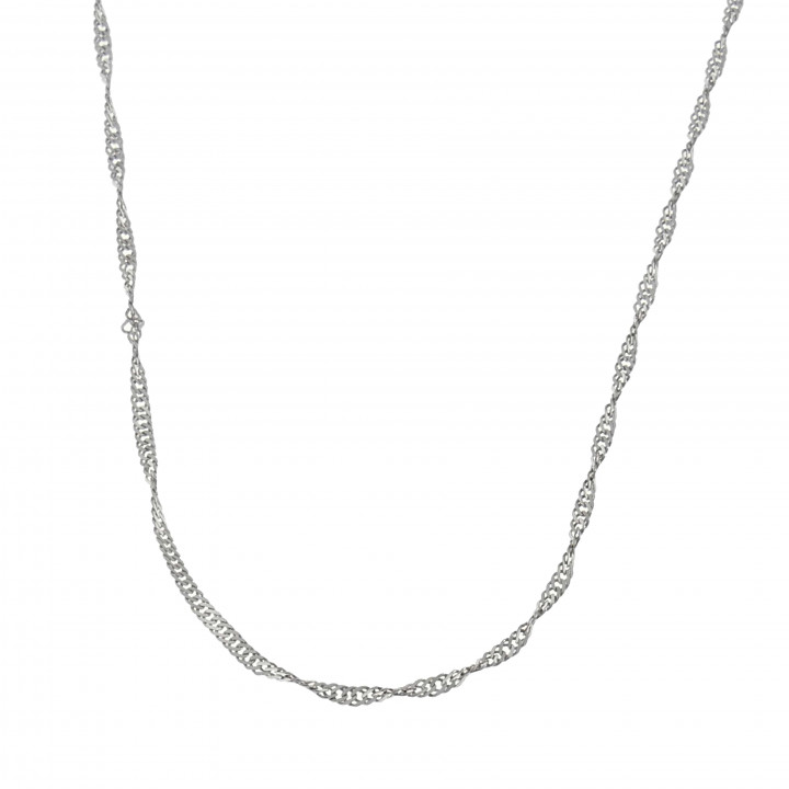 Женская цепочка, белое золото 14 карат, длина 44 см