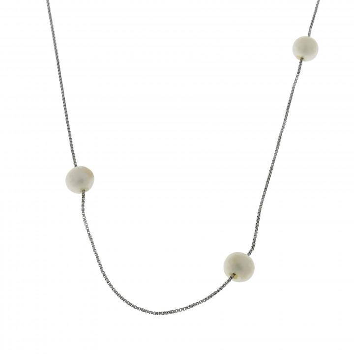 Женская цепочка, белое золото 14 карат, длина 40 см