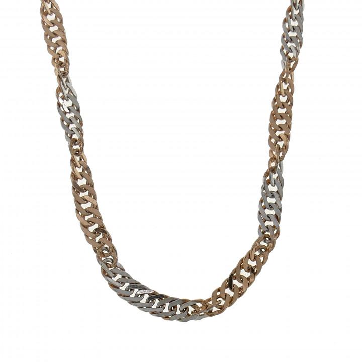 Женская цепочка, красное и белое золото, длина 44 см