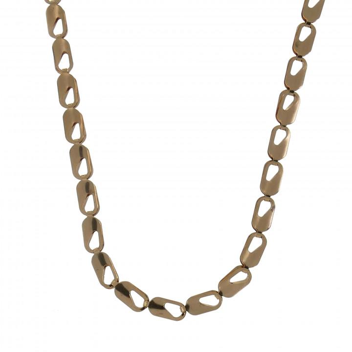 Женская цепочка, красное золото, длина 55 см